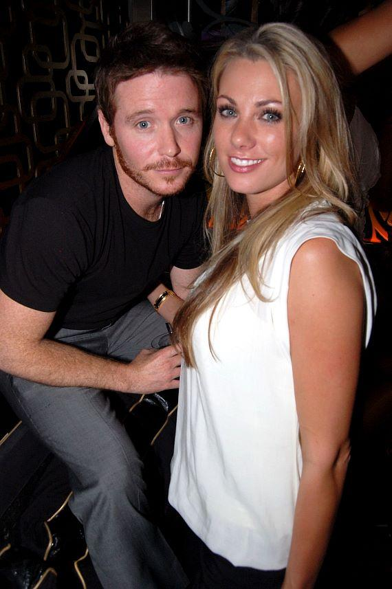Kevin Connolly and friend at The Bank Nightclub at Bellagio