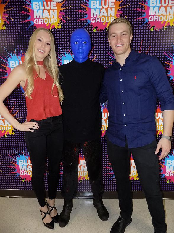 BMX Racer Connor Fields visits Blue Man Group Las Vegas