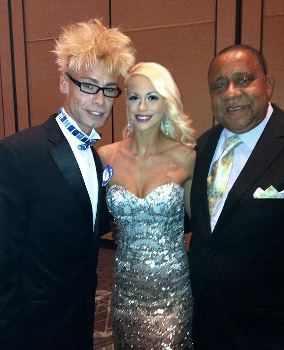 Murray and Chloe with actor Barry Shabaka Henley at 39th Annual NATAS PSW Emmy Awards held at Red Rock Resort Las Vegas