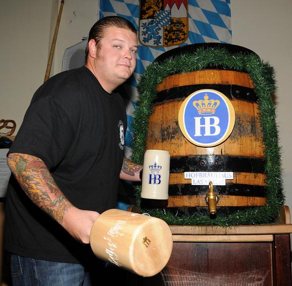 Corey Harrison at last year's Oktoberfest