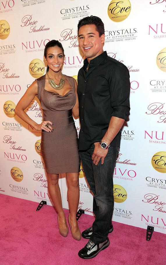 Courtney Mazza and Mario Lopez at Eve Nightclub