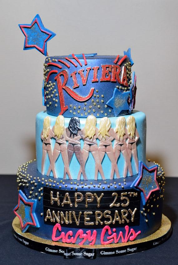 Crazy Girls 25th Anniversary Cake