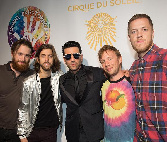 "Criss Angel and The Imagine Dragons on the Gold Carpet at Criss Angel ""HELP"""