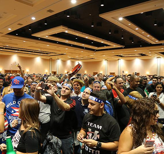 Crowd at Cotto vs. Canelo Weigh In