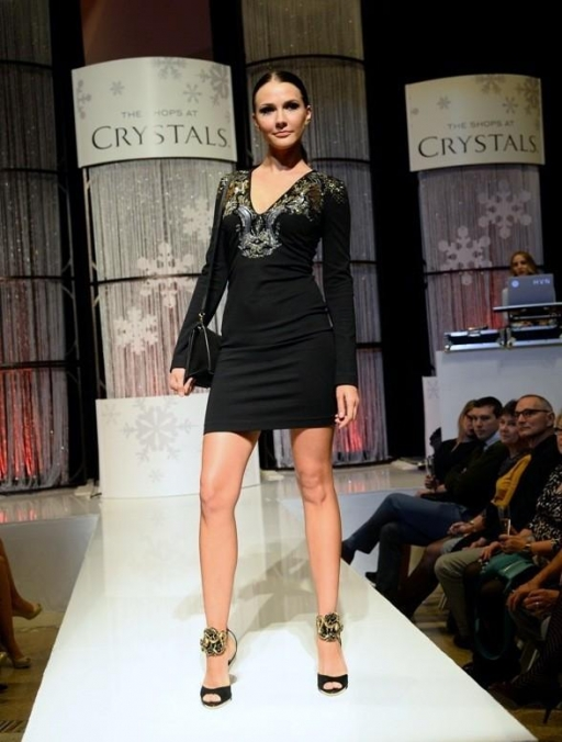 Crystals - Fashion Gives Back 2013 - Model on Catwalk
