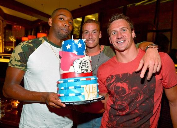 Cullen Jones, Ed Moses and Ryan Lochte
