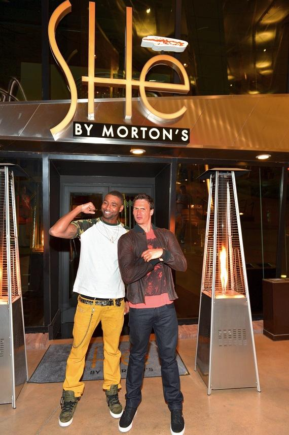 Cullen Jones and Ryan Lochte at SHe's by Morton's