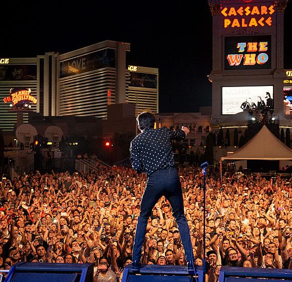 "The Killers Rock the Las Vegas Strip with Pop-Up Performance at Caesars Palace During ABC's ""Jimmy Kimmel Live"""