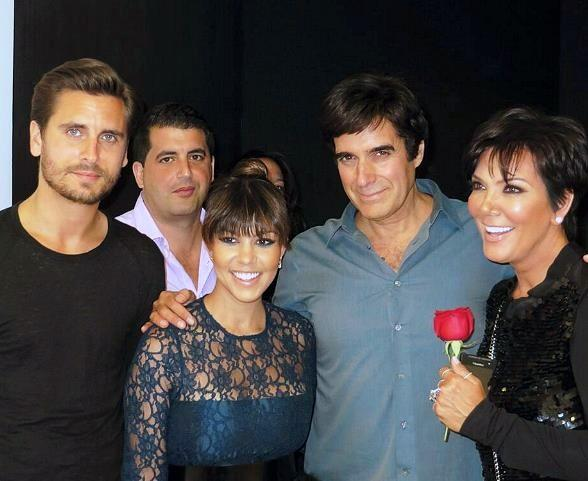 Scott Disick, Kourtney Kardashian, Kris Jenner Attend David Copperfield's Show at MGM Grand