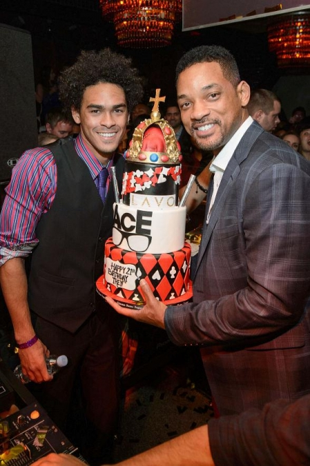 Will Smith, Jada Pinkett Smith, Jaden and Willow Celebrate Trey Smith's 21st Birthday at LAVO
