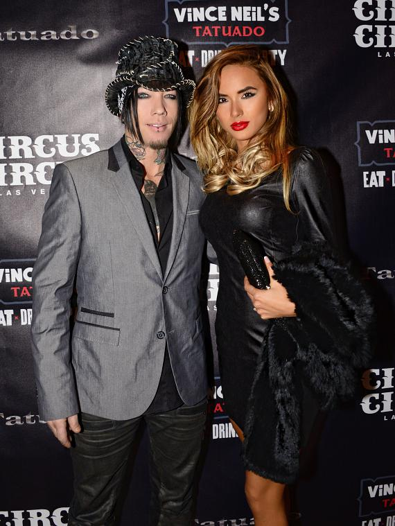 DJ Ashba and wife at Vince Neil's Tatuado Eat-Drink-Party! at Circus Circus