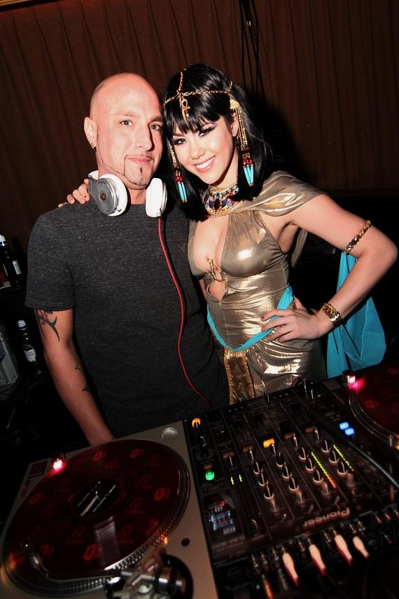 DJ MYK and Claire Sinclair inside Posh Boutique Nightclub