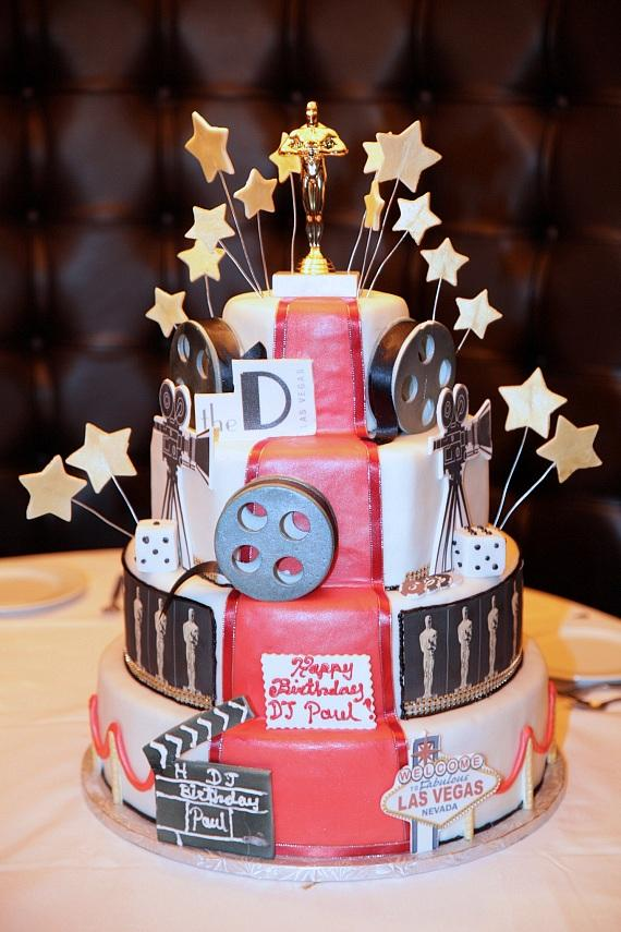 """DJ Paul was presented with a 4-layer """"Oscars"""" cake at Andiamo's Italian Restaurant at the D Las Vegas"""