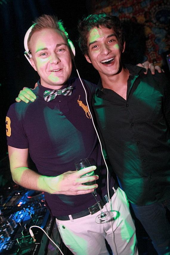 DJ Richard Beynon invites Tyler Posey to the turntables at Vanity Nightclub