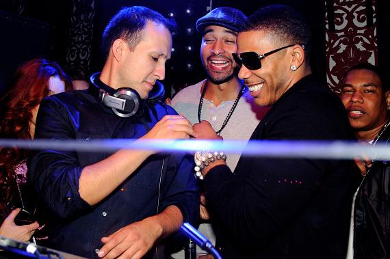 DJ Vice, Matt Kemp and Nelly at TAO