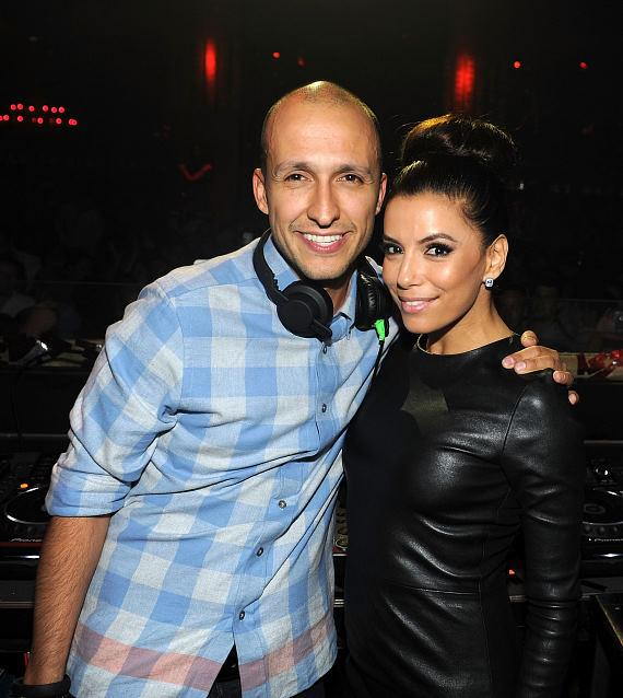 DJ Vice and Eva Longoria at PADRES Gala After Party at TAO
