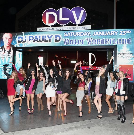 """DJ Pauly D's fans cheer for him at the """"Winter Wonderland EDM Pop Up Series"""" at DLVEC"""