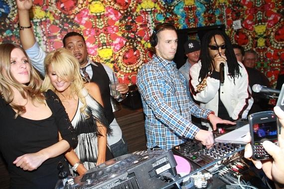Nicky Hilton, Paris Hilton, Eric DLux and Lil Jon