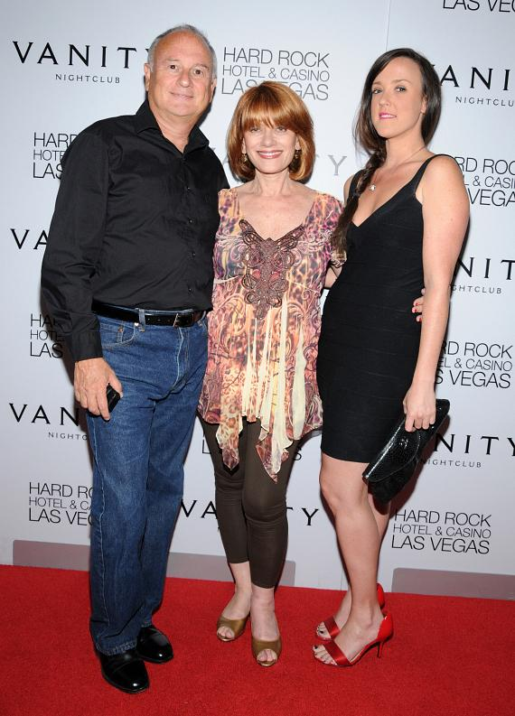 Adam's step-father Dan Franklin, mother Andrea Gross and step-sister Kate Franklin
