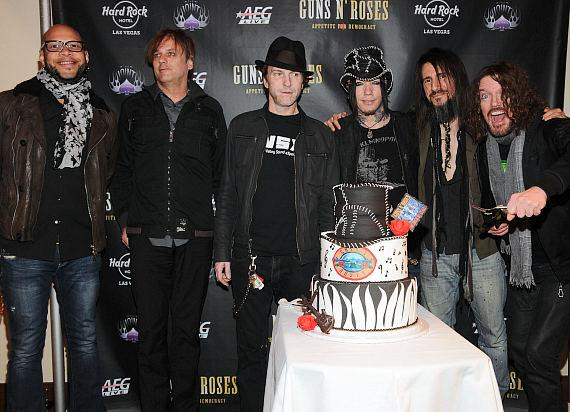 Gun's N' Roses guitarist DJ Ashba with bandmates at The Joint