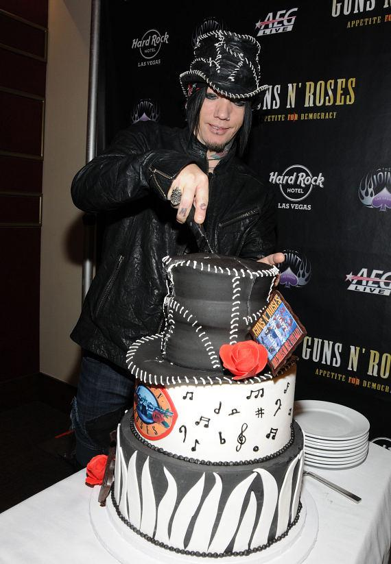 Gun's N' Roses guitarist DJ Ashba celebrates 40th Birthday at The Joint