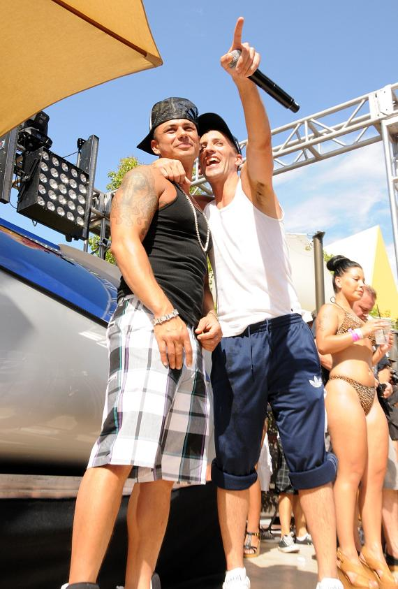 DJ Pauly D and Clinton Sparks at Ditch Fridays at Palms Pool & Bungalows