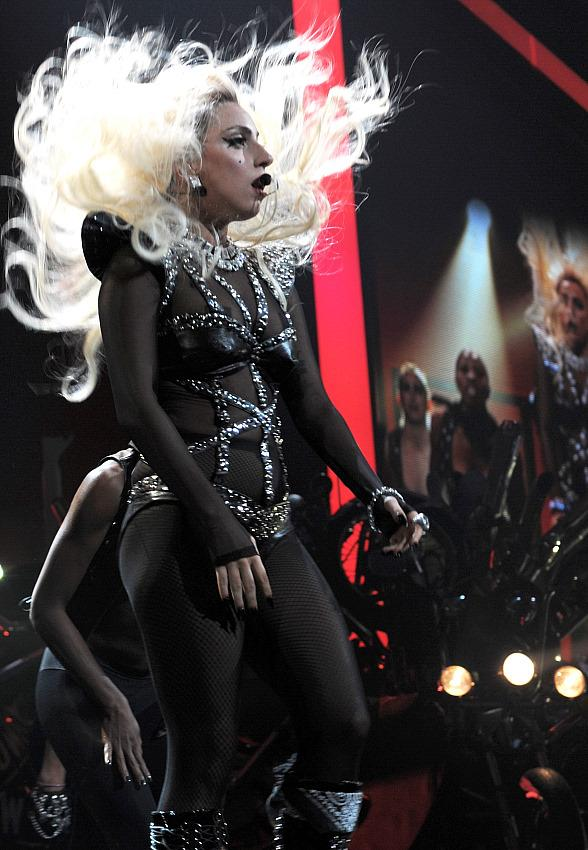 Lady Gaga performs at iHeartRadio Music Festival in Las Vegas