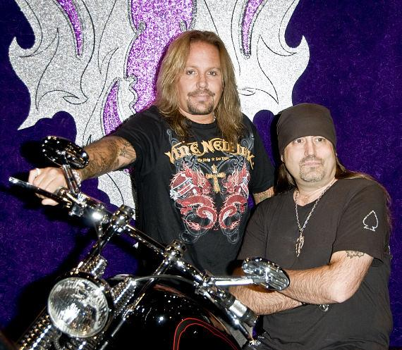 Vince Neil and at grand opening of Vince Neil Ink at The Rio in Las