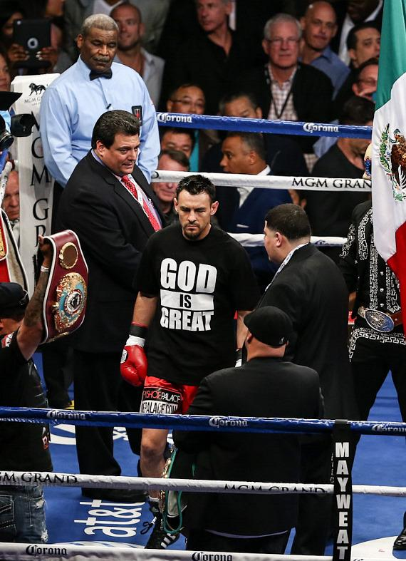 Robert Guerrero enters the ring