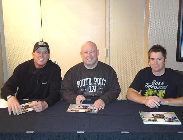 NASCAR Drivers Ron Hornaday, Todd Bodine and Timothy Peters at The Sporting House Bar & Grill