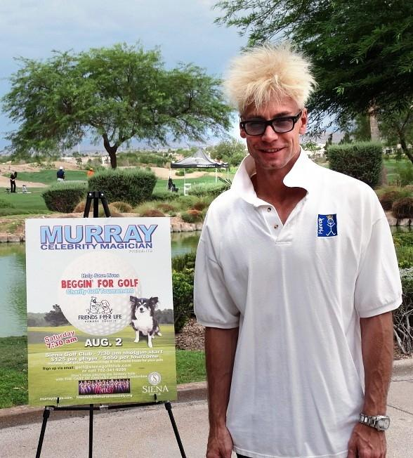 MURRAY 'Celebrity Magician' Hosts First Golf Tournament for 'Friends For Life Huma