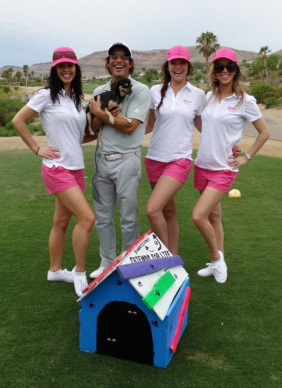 Ladies of FANTASY and guest at 'Beggin' for Golf' benefit