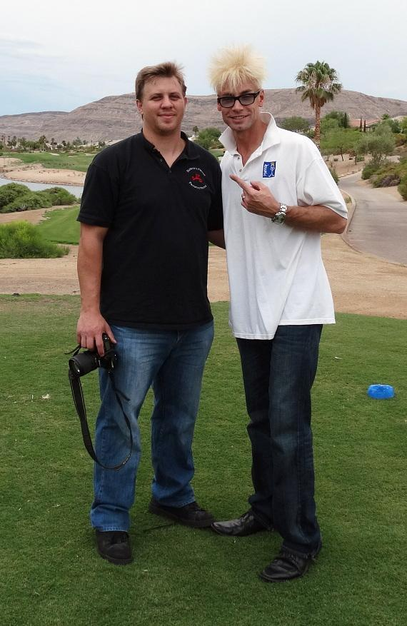 Murray with guest at 'Beggin' for Golf' benefit
