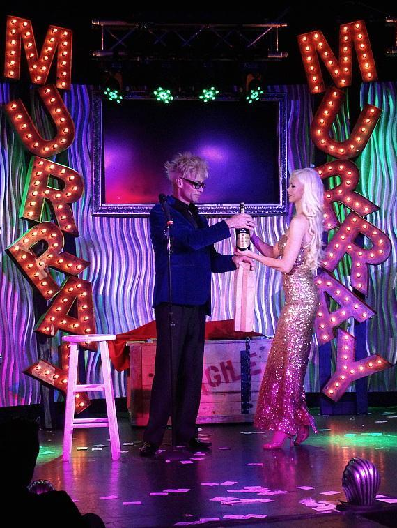 Murray and Chloe perform their new show in the Sin City Theater in Planet Hollywood Las Vegas