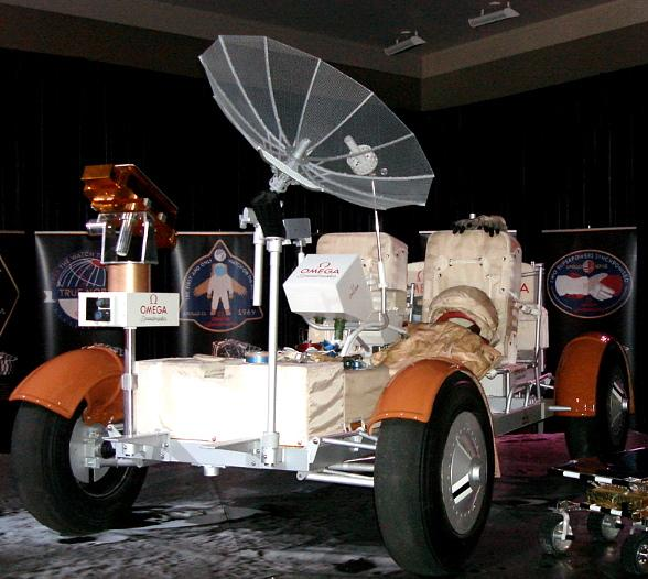 Lunar Rover, Mars Rover, Apollo 10 Space Suit and Astronauts Stafford, Cernan and Duke at Crystals CityCenter