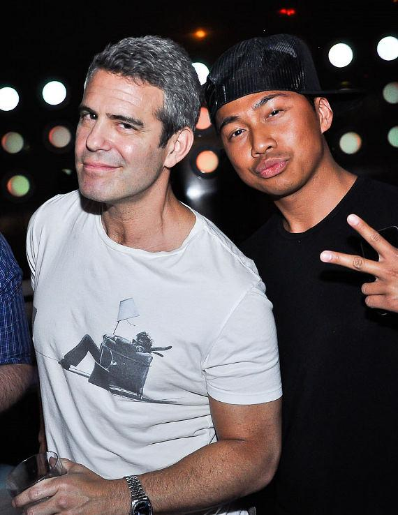 Andy Cohen (left) with friend at REVO