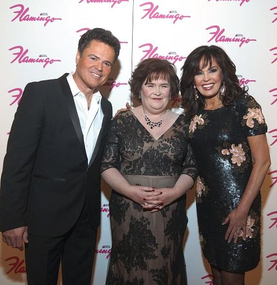 Donny Osmond, Susan Boyle and Marie Osmond at Flamingo Las Vegas