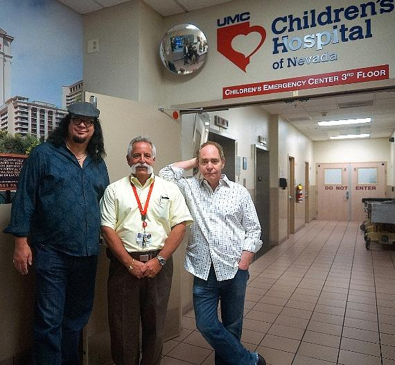 Penn & Teller with UMC Trauma Services Director Gregg Fusto