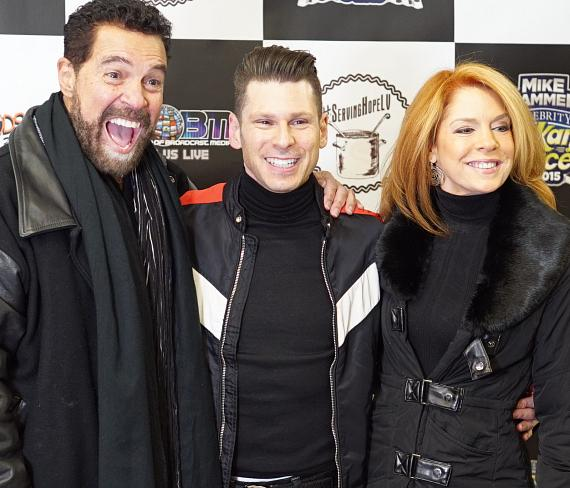 Singer Clint Holmes, Mike Hammer and TV host Kelly Clinton-Holmes