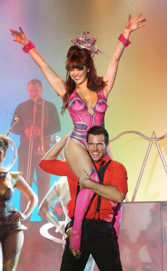 Claire Sinclair Performs in Body Paint