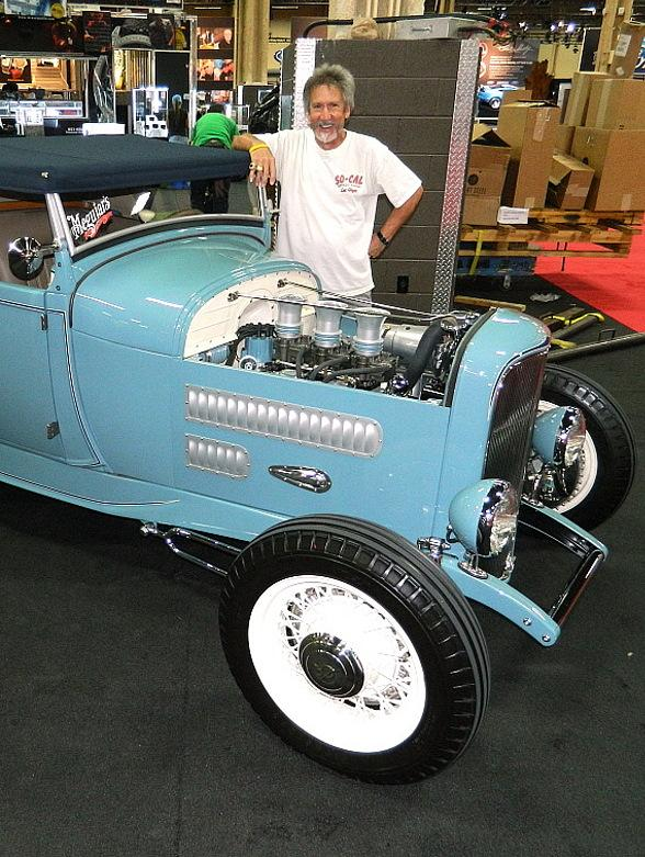 "Nick Kallos with ""The Contender"" at Barrett-Jackson auction in Las Vegas"