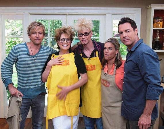 Shawn Flanery, Cristina Ferrare, Murray SawChuck, Cat Cora and Mark Steines