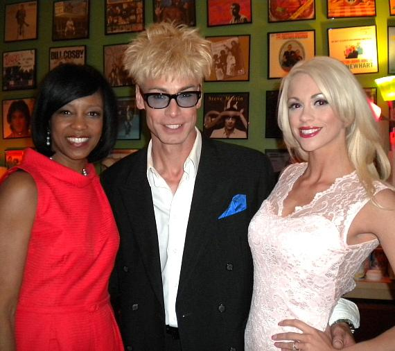 Deborah Tillman with Murray SawChuck and Chloe Crawford at The Laugh Factory in Las Vegas