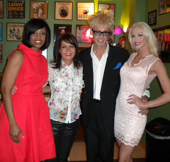 Deborah Tillman, Cheryl Kagan, Murray SawChuck and Chloe Crawford at The Laugh Factory in Las Vegas