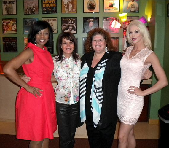 Deborah Tillman, Cheryl Kagan, Jaki Baskow and Chloe Crawford at The Laugh Factory in Las Vegas