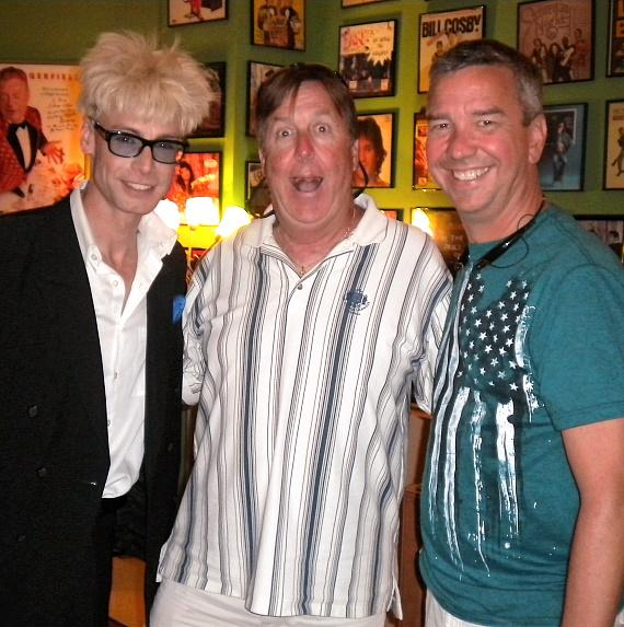 Murray SawChuck with Ted Holum and Rich Clesen backstage at the Tropicana Las Vegas
