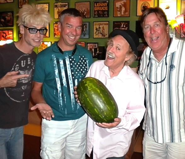 Ted Holum and Rich Clesen Visit Murray and Gallagher Backstage at Tropicana Las Vegas