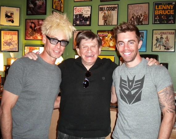 Murray and Rob with Johnny Thompson 'Magic Consultant' on SYFY 'Wizard Wars' backstage at The Laugh Factory in Tropicana Las Vegas