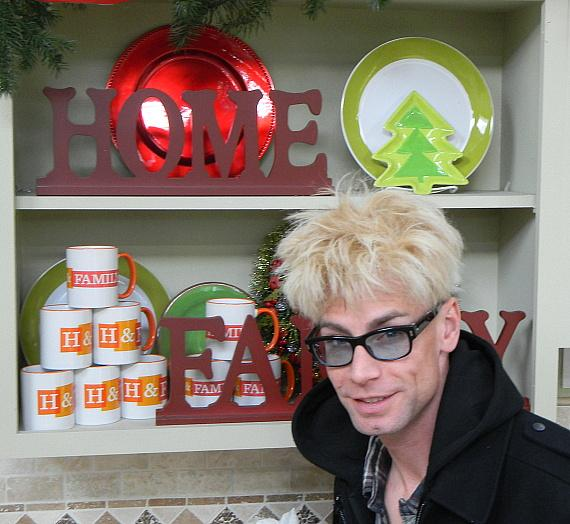 Murray backstage at Hallmark's Home & Family show