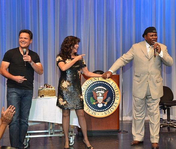 Donny &amp; Marie Help Celebrate George Wallace